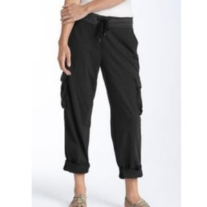 Standard James Perse Cropped Cuffed Cargo Pants